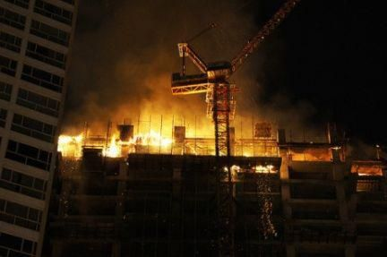 Sydney fire was set off by a blowtorch