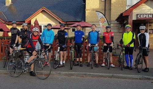 100 miles completed by charity cyclists