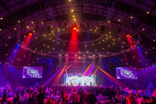 Pearce Hire and Hawk Audio Visual put on a spectacular circus performance