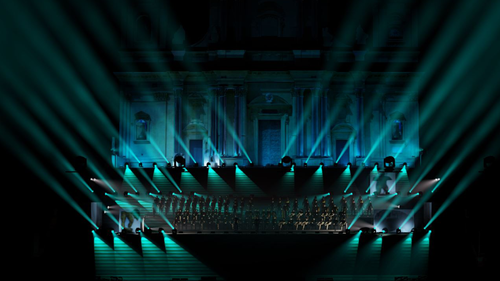 wysiwyg lights Andrea Bocelli concert at the Noto Cathedral