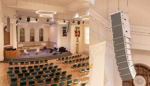Tunbridge Wells Baptist Church upgrades with RCF HDL26-A