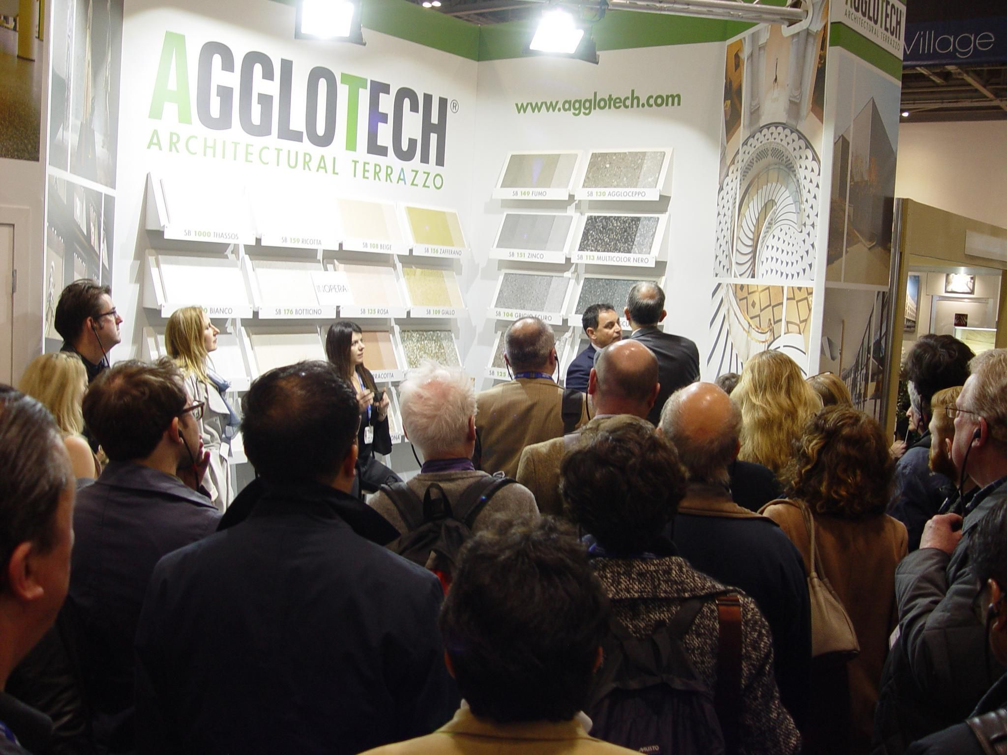 Architects at the Agglotech stand Hard Surfaces