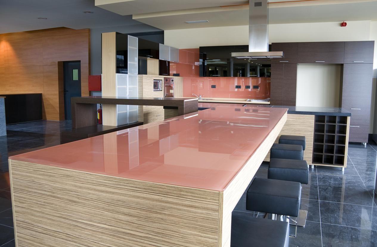 Glass kitchen worksurface