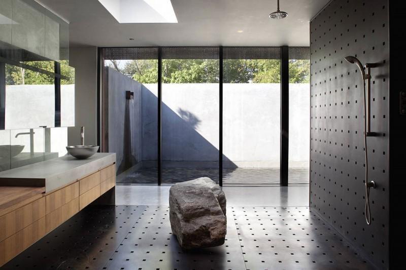 Metal clad bathroom