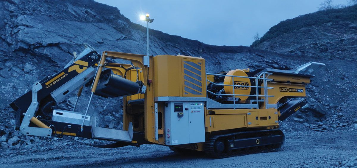 ROCO Ryder 1000 mobile jaw crusher
