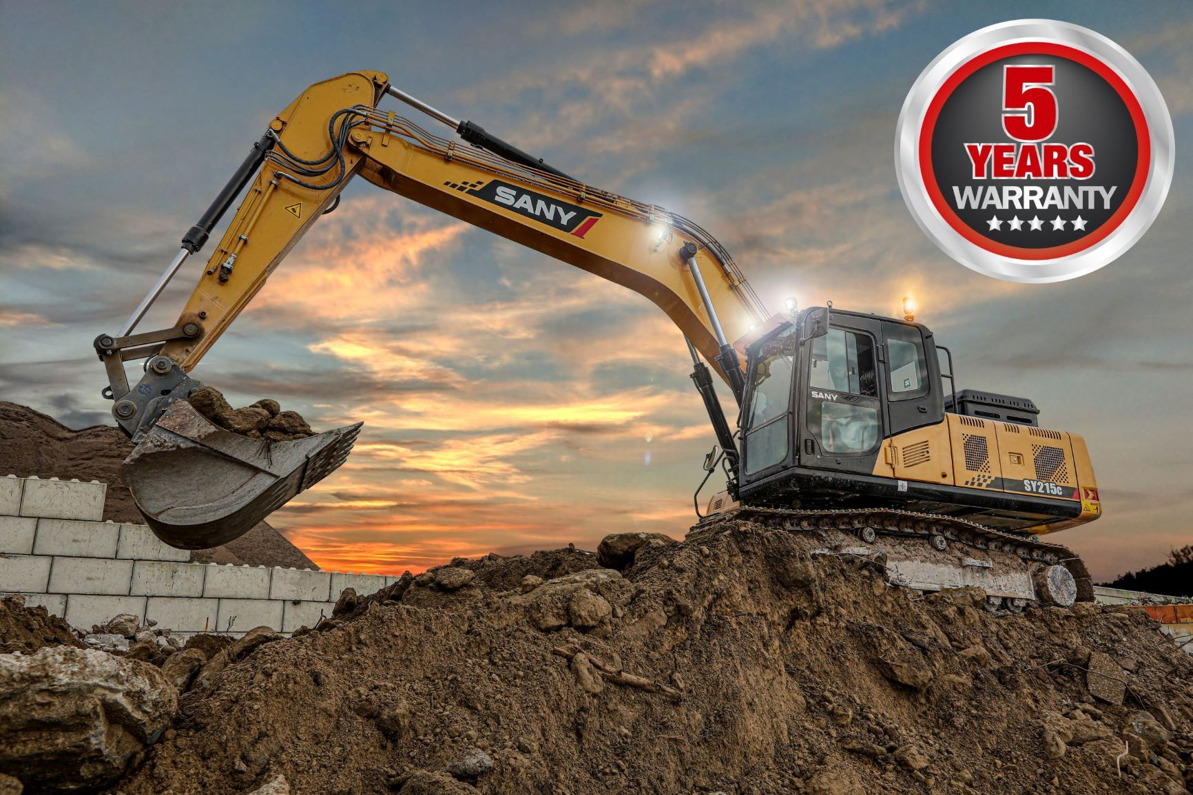 SANY launch five-year warranty on full excavator range