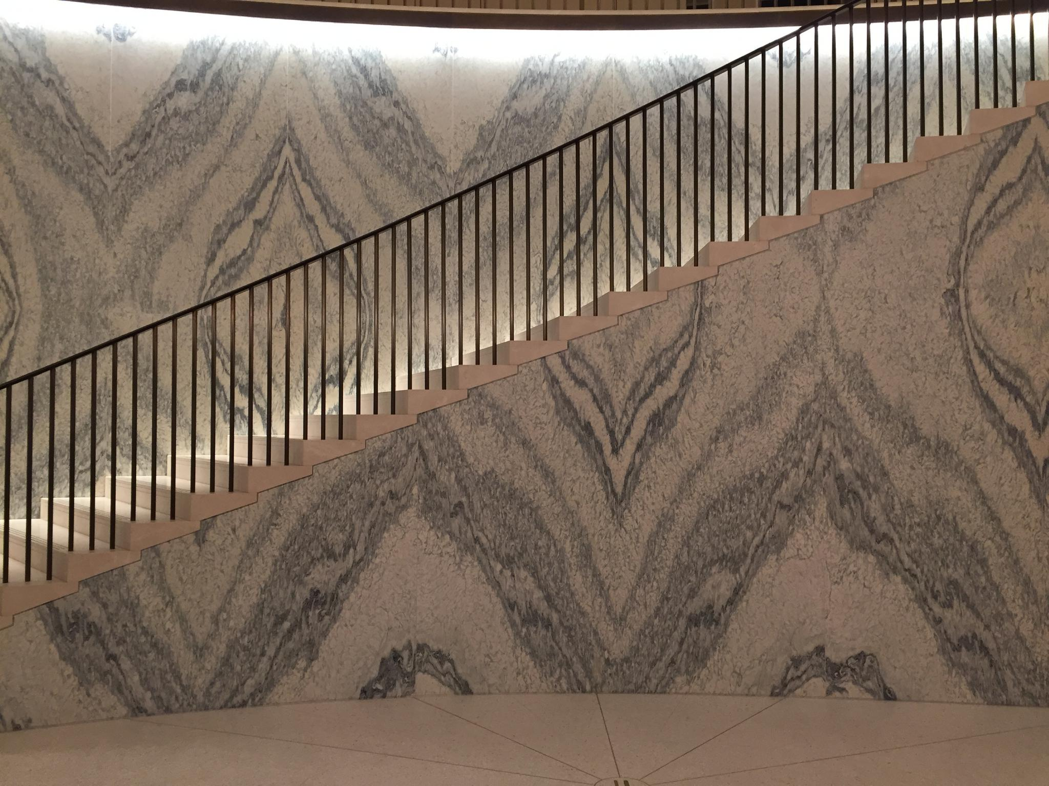 Harrods staircase interior cladding project