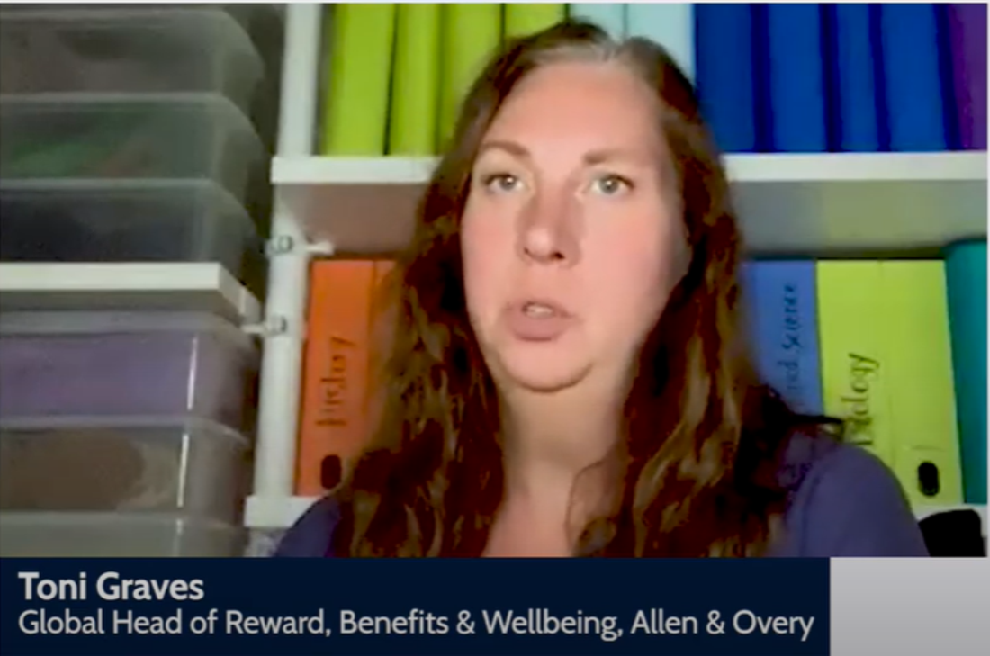 Toni Graves, global head of reward, benefits & wellbeing, at Allen & Overy on bringing international wellbeing strategies to life