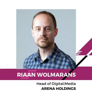 Riaan Wolmarans, Head of digital: media, Arena Holdings