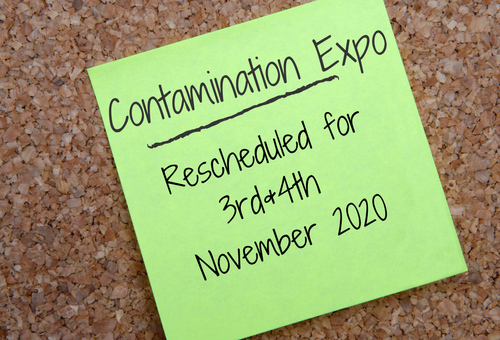 Important Announcement: Contamination Expo Rescheduled for November 2020