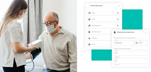 Widening the Care Circle and Recording Homecare Observations with Accuracy and Ease