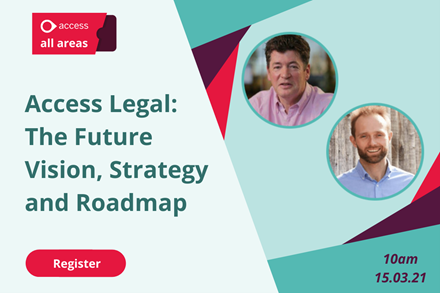 Access Legal: The Future Vision, Strategy and Roadmap - 10am, 15.03.21