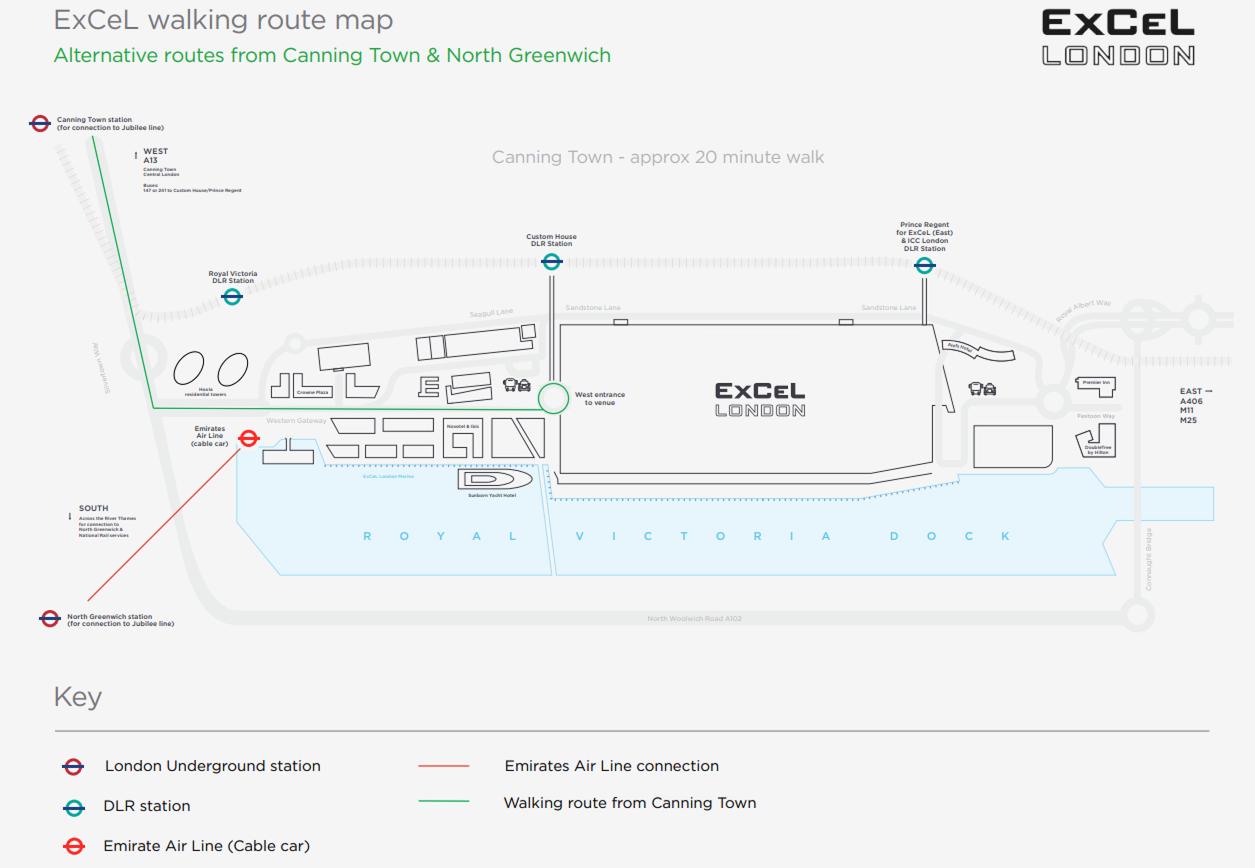 ExCeL-Walking-Map