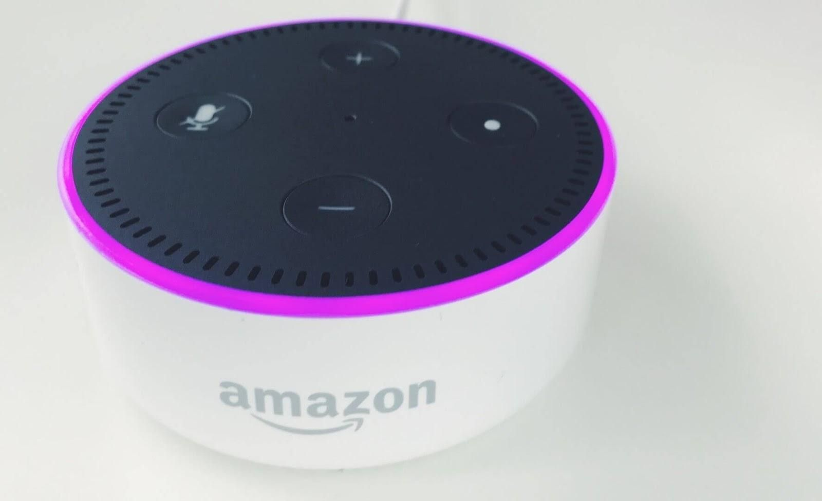 Picture of an Amazon Echo Dot.