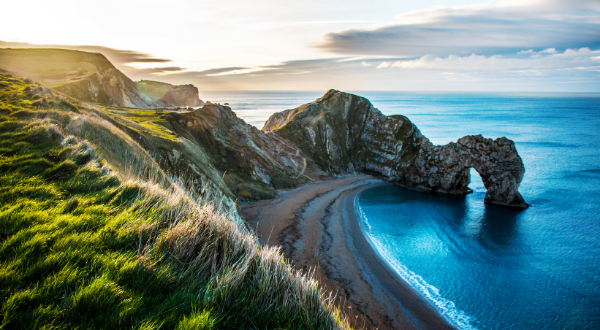 Picture of a beach in Dorset.