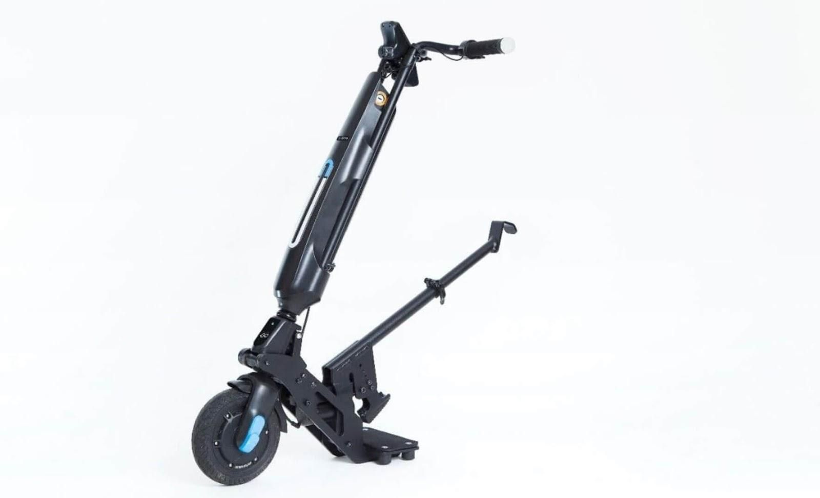 Picture of an electric wheelchair handcycle.