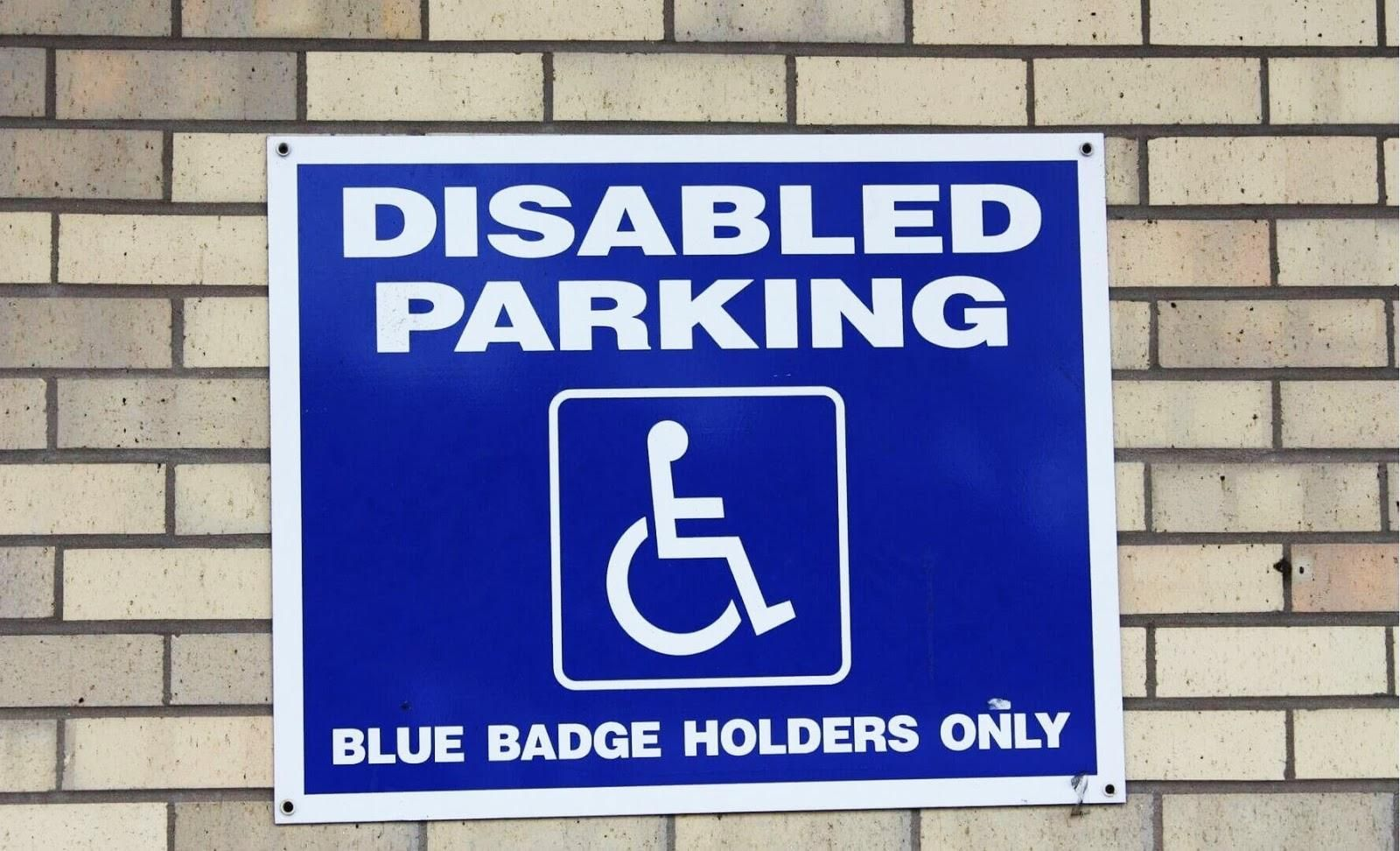 Picture of a disabled parking sign.