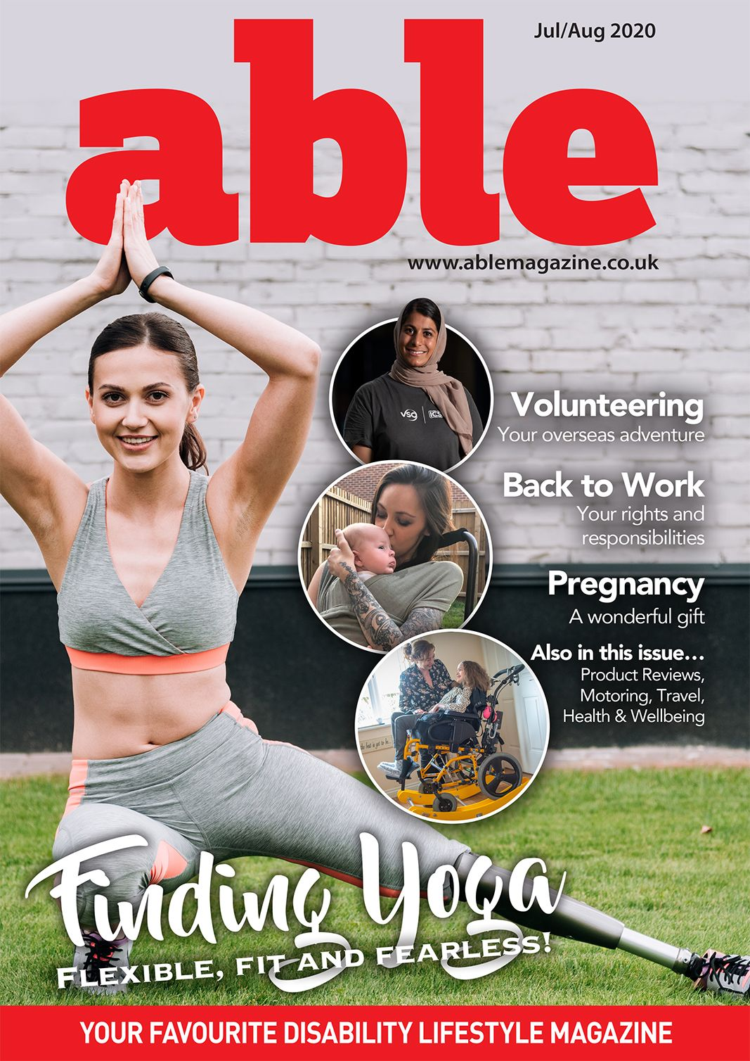 Picture of the Able Magazine July cover.