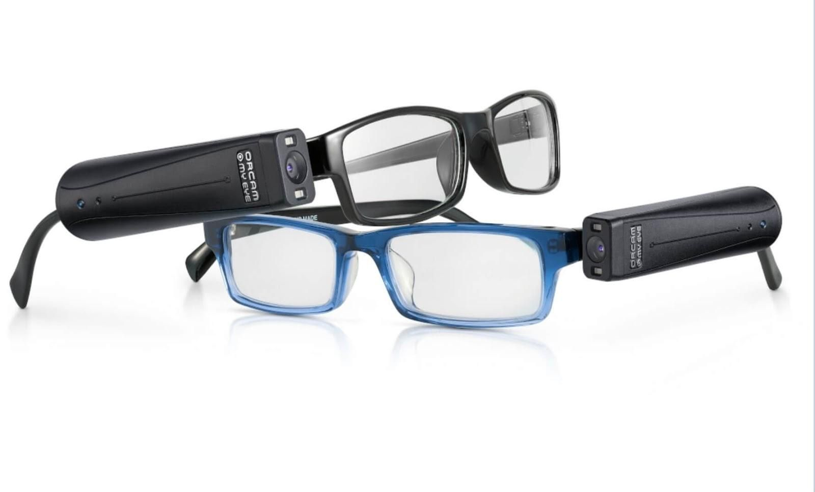 Picture of the Orcam Assistive Technology Glasses