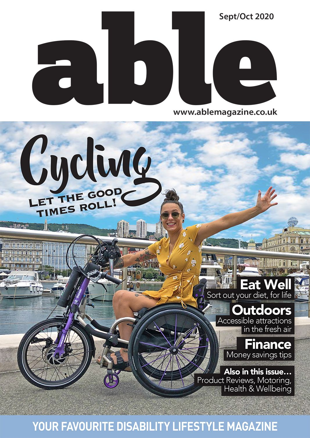Picture of the Able Magazine September cover.