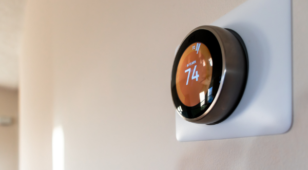 Picture of a smart thermostat.