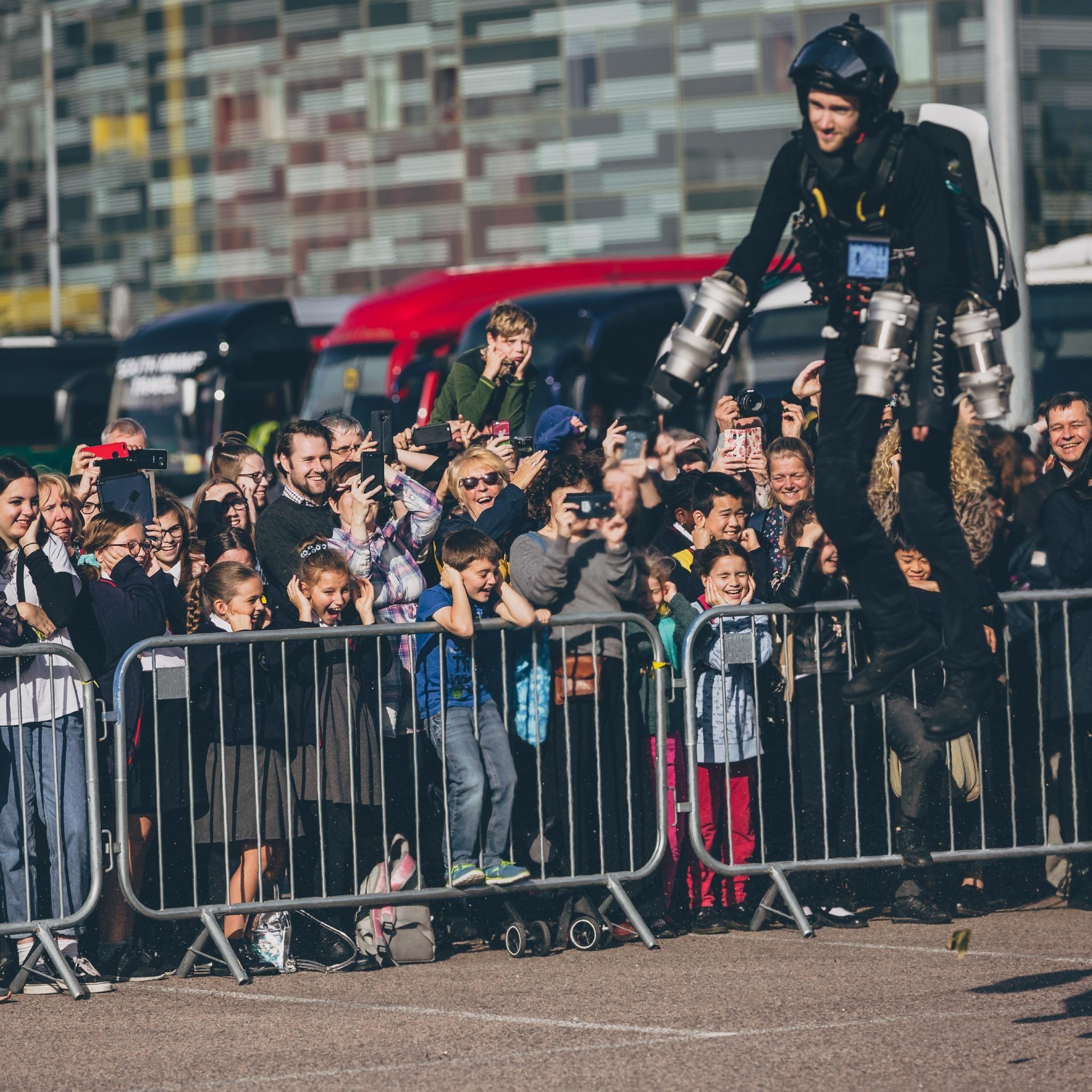 Sam Rogers' Jet Suit Flight Demonstration