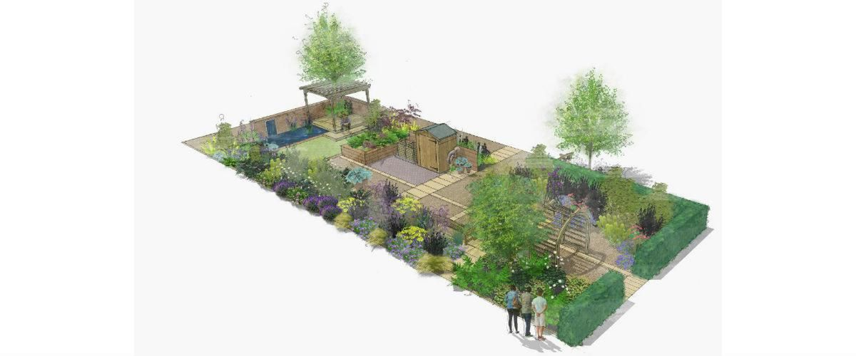 Wyevale Garden Centres Solutions Garden illustration, David Stevens