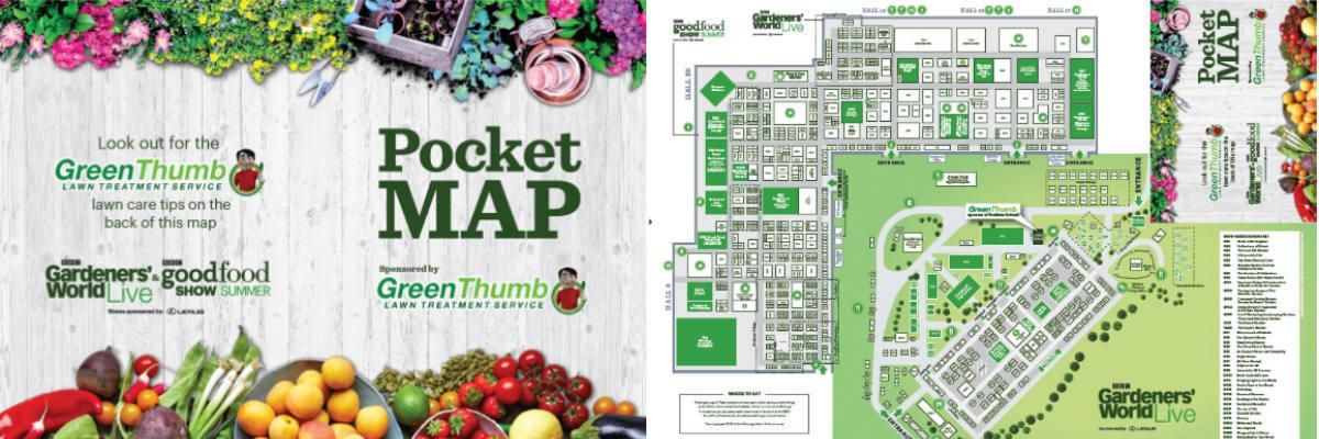 pocket map sponsored by greenthumb