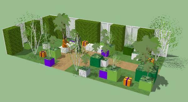 Macmillan Legacy Garden, show garden design illustration