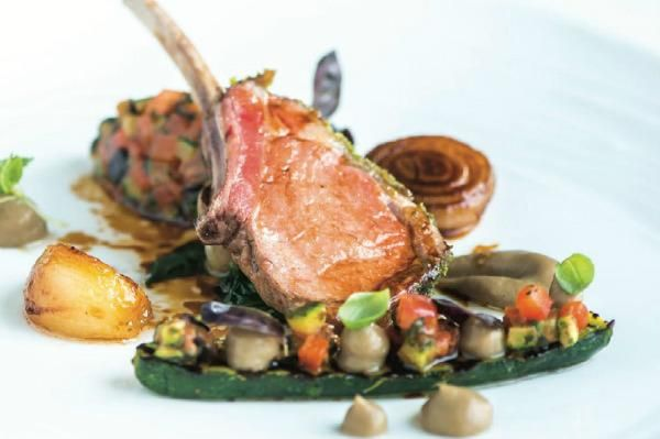 Michael Caines Lamb with ratatouille and fondant potatoes
