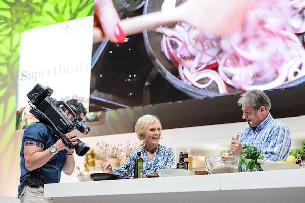 Alan Titchmarsh with Mary Berry at the BBC Good Food Show Summer
