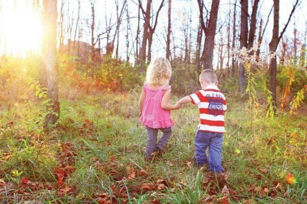 children enjoying the great outdoors