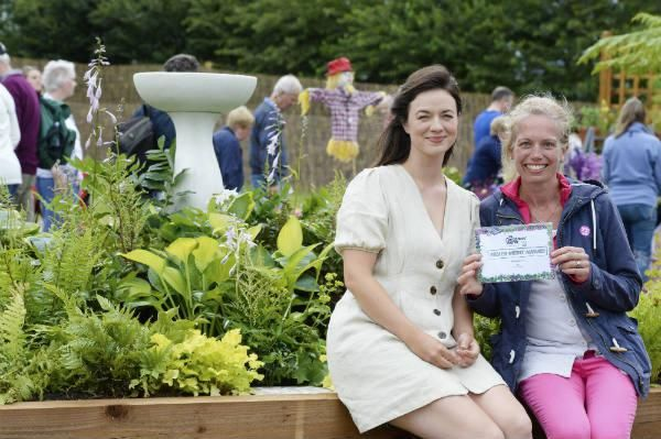 Natalie Forkin with Frances Tophill, Gardeners' World TV presenter
