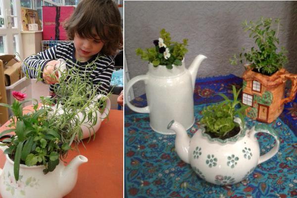 george perkins nursery - teapot plantpot competition