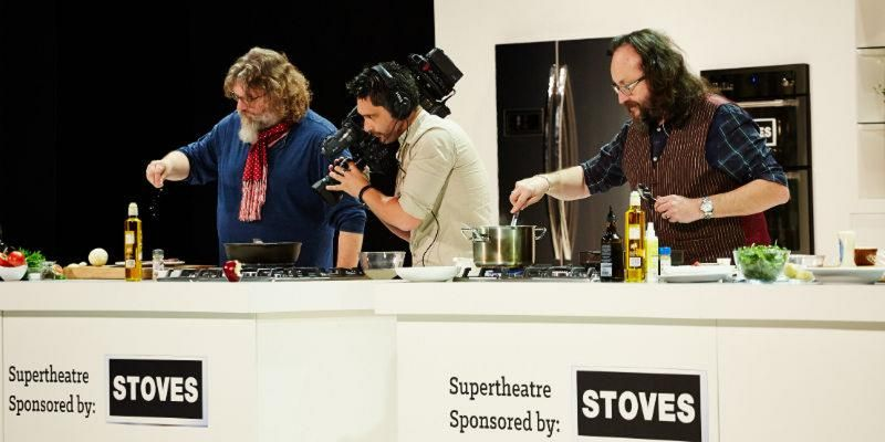 The Hairy Bikers cooking live at the BBC Good Food Show Summer