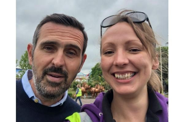 Kate Mason with Adam Frost at BBC Gardeners' World Live