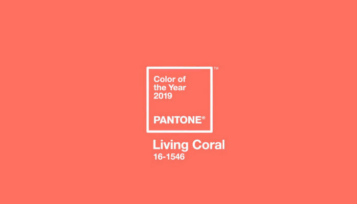 pantone colour of the year - living coral - swatch