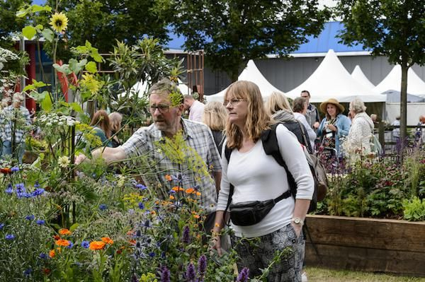 visitors enjoying the borders at BBC Gardeners' World Live