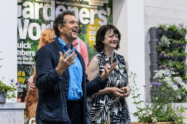 Monty Don and Lucy Hall at BBC Gardeners' World Live 2019