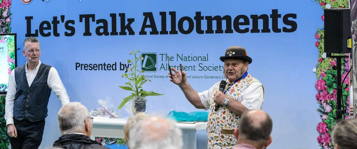 let's talk allotments, with the national allotment society at BBC Gardeners' World Live