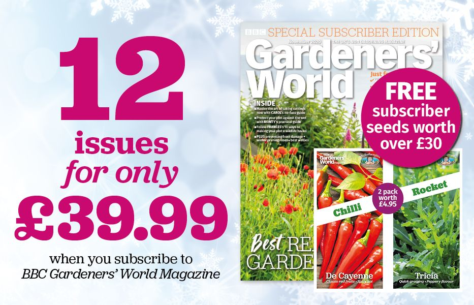 gift Gardeners' World magazine subscriptions for Christmas