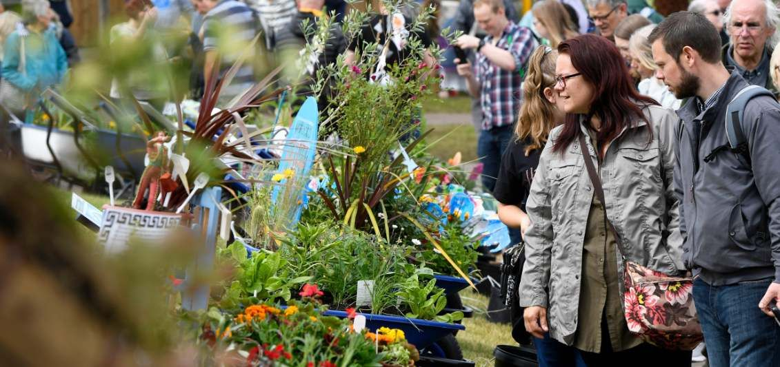 groups of visitors enjoying a day out at BBC Gardeners' World Live
