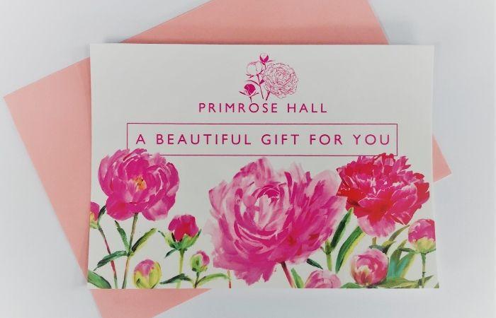 PRimrose Hall gift vouchers - christmas idea for gardeners