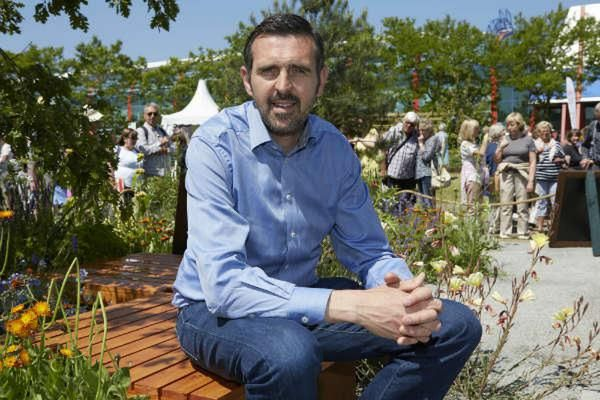 Adam Frost at BBC Gardeners' World Live. Golden Jubilee Plant nomination
