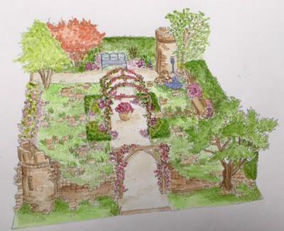 Romance in the Ruins, BBC GArdeners' World Live, Claudia de Yong, Wyevale Garden Centres