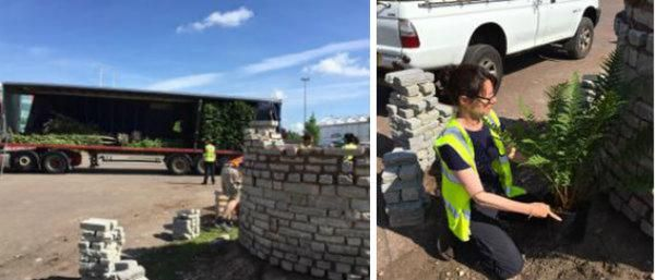 Deliveries start arriving at the Wyevale Garden Centres Show Garden at BBC Gardeners' World Live