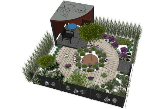 GOLD AWARD, Graham Armstrong, Armstrong Landscapes, designed by Hana Leonard, Secrets of the Garden Ltd