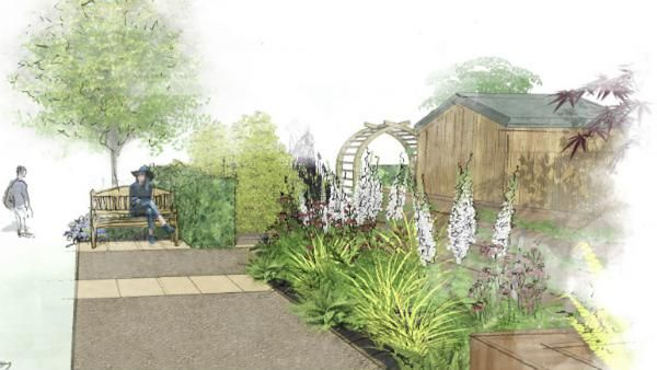 Wyevale Garden Centres Solutions Garden illustration - shady border
