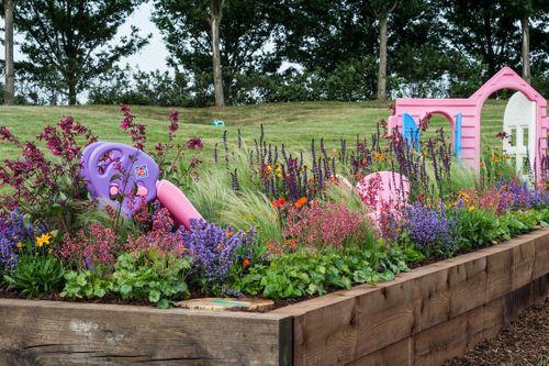 Nursery Border designed by Ben Stubbs winner of Best Beautiful Border Gardeners World Magazine Subscriber 2018