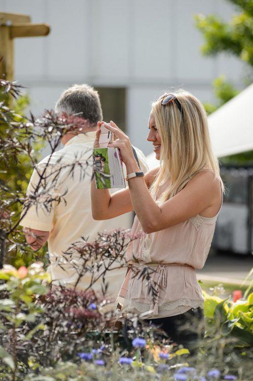 Visitors enjoying the Beautiful Borders at BBC Gardeners' World Live